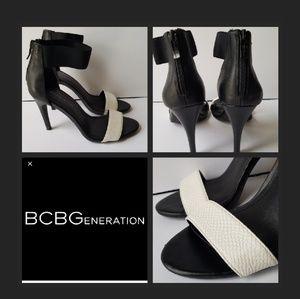 BCBGeneration Black and White Heels